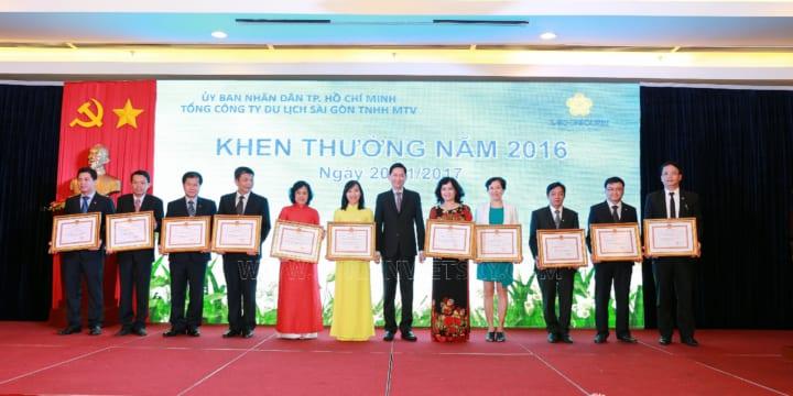 Tổ chức hội nghị tổng kết cuối năm chuyên nghiệp tại HCM I Lể Tổng Kết SAIGONTOURIT