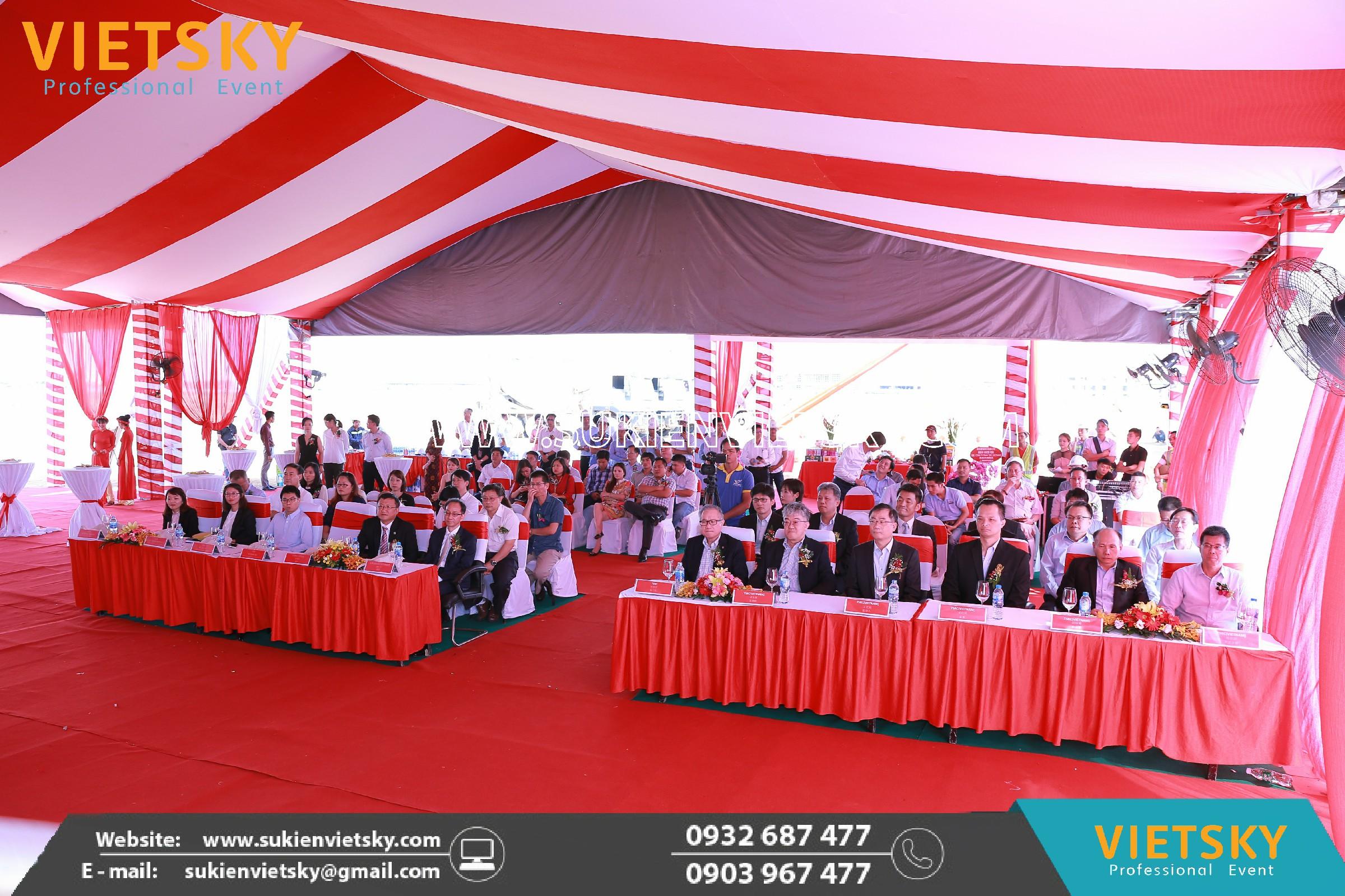 Công ty tổ chức lễ khởi công giá rẻ tại KCN Lập Thạch, Vĩnh Phúc
